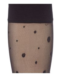 Charnos   Black 2 Pack Spot And Diamond Knee Highs   Lyst