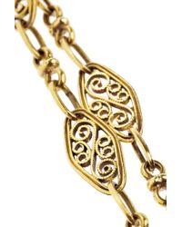Fred Leighton - Metallic Victorian 18karat Gold Filigree Necklace - Lyst