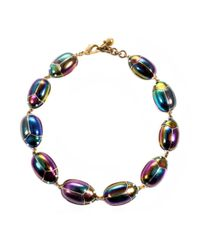 Lulu Frost | Multicolor Scarab Procession Necklace | Lyst