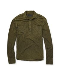 Polo Ralph Lauren - Green Slub Cotton Jersey Pullover for Men - Lyst