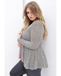 Forever 21 - Black Plus Size Marled Knit Cardigan You've Been Added To The Waitlist - Lyst