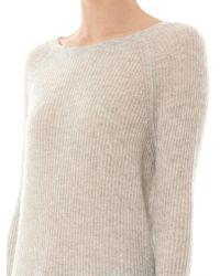Vince - Gray Deep Raglan-Sleeve Cashmere Sweater - Lyst