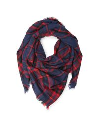 Forever 21 | Blue Frayed Plaid Scarf You've Been Added To The Waitlist | Lyst