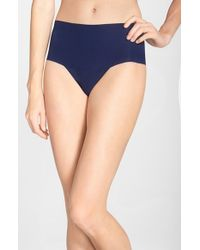 Hanky Panky | Blue 'bare - Godiva' High Rise Thong | Lyst
