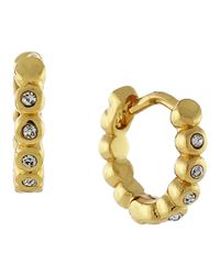 Vince Camuto - Metallic Goldtone Glitz Huggie Earrings - Lyst