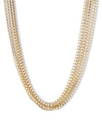 Anne Klein | Metallic Goldtone Multi-Strand Necklace | Lyst