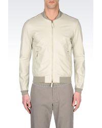 Armani | Gray Piqué Rain Jacket for Men | Lyst
