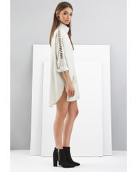 Forever 21 - Natural Foxiedox Draped Cutout Jacket - Lyst