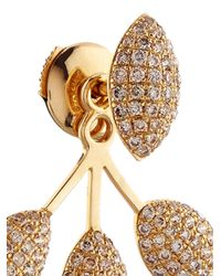 Elise Dray | Diamond & Yellow-Gold Invisible Drops Earrings | Lyst