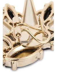 Anton Heunis   Metallic 22 Carat Gold Plated Swarovski Crystal Earrings   Lyst