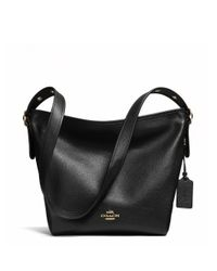 COACH - Black Dufflette Leather Shoulder Bag - Lyst