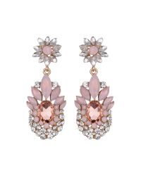 Mikey | Pink Flower Drop Fillagary Flower Earring | Lyst