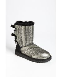 UGG - Metallic Ugg 'bailey Bow Bling' Boot - Lyst