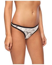 Forever 21 - Black Toile Print Thong - Lyst