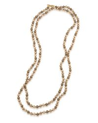 Carolee | Metallic Rainbow Room Earthy Faux Pearl Rope Necklace | Lyst