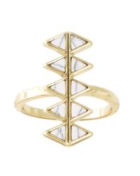 House of Harlow 1960 - Metallic Reflector Bar Ring - Lyst