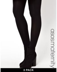 ASOS | Black 3 Pack 120 Denier Tights With Supportive Band | Lyst