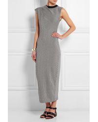 JOSEPH - Black Rose Striped Cotton Dress - Lyst