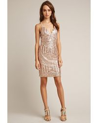Forever 21 | Pink Tiger Mist Sequined Cami Dress | Lyst