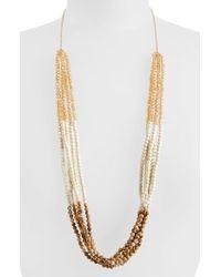 Panacea - Brown Women'S Jasper & Howlite Multi Strand Necklace - Topaz White - Lyst