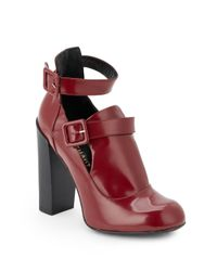 Jill Stuart | Red Lara Double-Strap Ankle Boots | Lyst