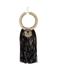 River Island | Black Tasselled Necklace | Lyst