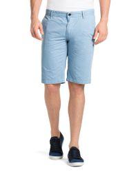 BOSS Orange | Blue Regular-Fit Shorts 'Schino-Shorts-D' for Men | Lyst