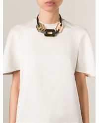 Fendi - Metallic Chain Necklace - Lyst
