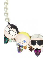 Bijoux De Famille | Multicolor Dress Me Plastron Necklace | Lyst