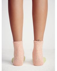 Free People - Orange Hansel From Basel Womens Juniper Colorblock Boot Sock - Lyst