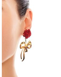 Dolce & Gabbana - Metallic Crystal-embellished Earrings - Lyst