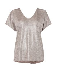 Linea Weekend | Metallic Lunar Drape Back Top | Lyst