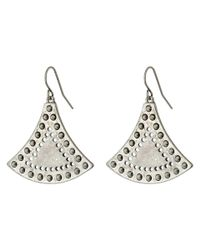 Sam Edelman | Metallic Flared Metal Drop Earrings | Lyst