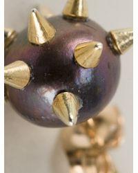 Nektar De Stagni - Purple Spiked Pearl Earrings - Lyst