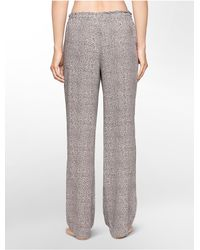 Calvin Klein | Gray Underwear Woven Viscose Abstract Print Pajama Pants | Lyst