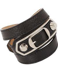Balenciaga | Black Ligne Classic Wrap Bracelet-Colorless | Lyst