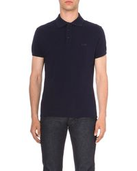 Armani Jeans - Blue Slim-fit Cotton-piqué Polo Shirt for Men - Lyst
