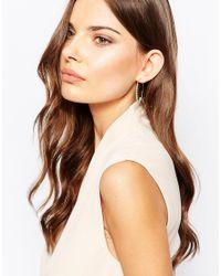 Orelia - Metallic Relia Wrapped Bead Large Hoop Earrings - Lyst