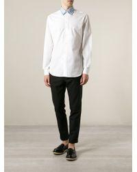 Ferragamo - White Contrast Collar Shirt for Men - Lyst