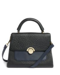 Ted Baker | Black Emma Large Circle Clasp Leather Tote Bag | Lyst