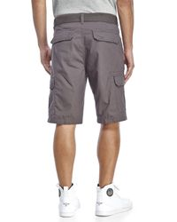 Weatherproof | Gray Ripstop Belted Cargo Shorts for Men | Lyst