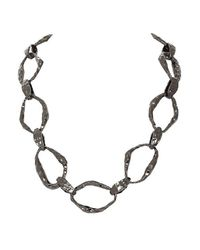 House of Harlow 1960 - Gray Textured Link Necklace - Lyst