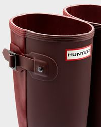 Hunter | Red Original Ribbed Back Rain Boots | Lyst