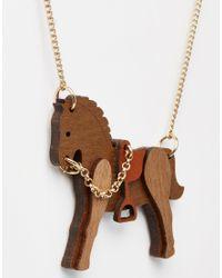 Tatty Devine | Brown Rocking Horse Necklace | Lyst