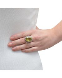 The Wildness Jewellery | Green Butterfly Ring Lemon Quartz | Lyst