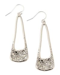 Alexis Bittar - Metallic Miss Havisham Crystal-encrusted Long Silvery Drop Earrings - Lyst