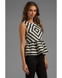 Dolce Vita | White Lysia Silky Stripes Top in Black | Lyst