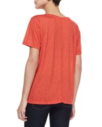 J Brand - Orange Janis Slub-knit Tee - Lyst