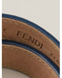 Fendi - Blue Snakeskin Effect Bracelet - Lyst