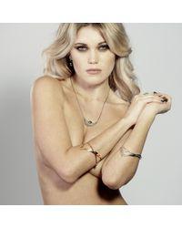 Lee Renee - Metallic Heathcliff Heart Bangle Silver - Lyst
